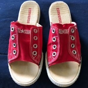 Rare Red Converse Slip On Sandals Size 7.5